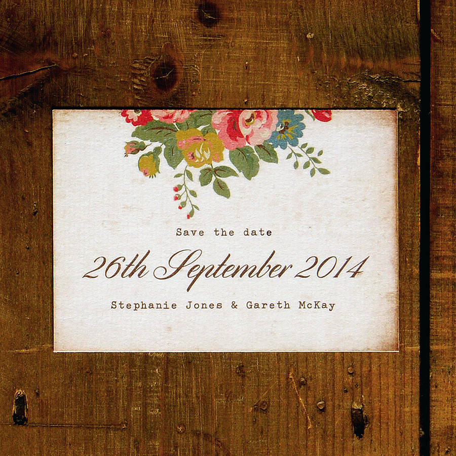 Save Date Wedding Invitations