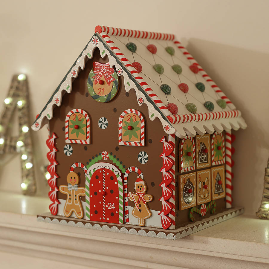 Christmas Gingerbread House Advent Calendar By Little Ella