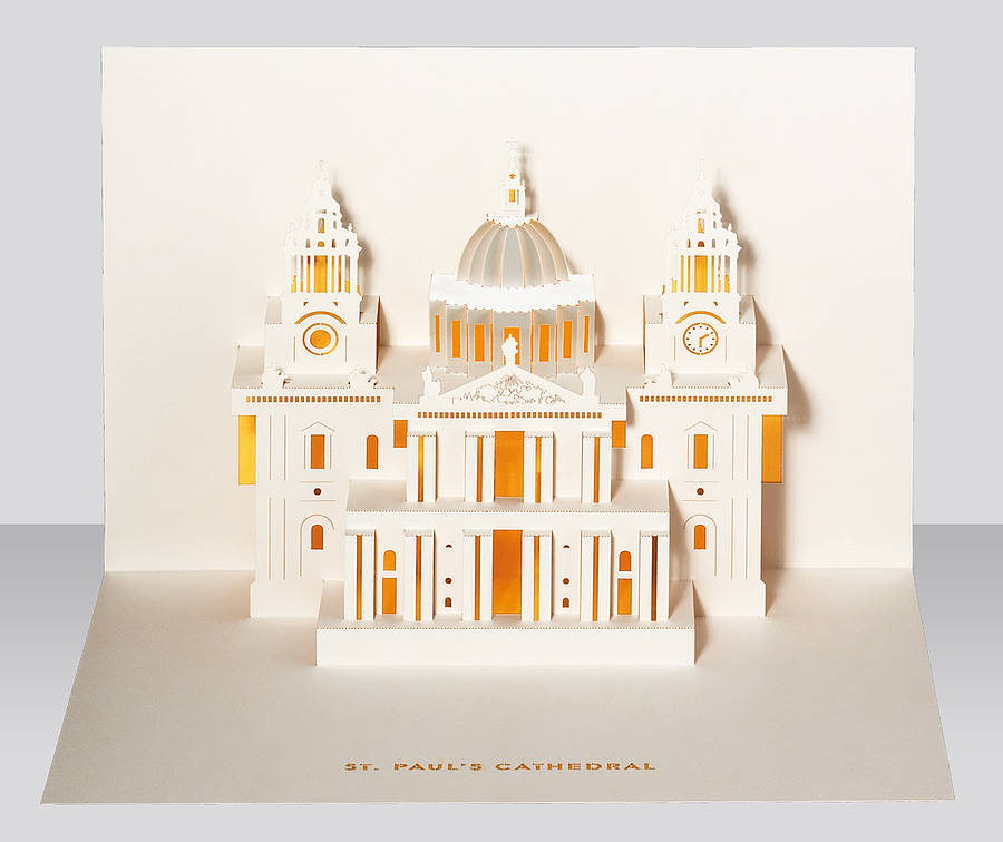 St Pauls Cathedral Pop Up Card By Paper Tango