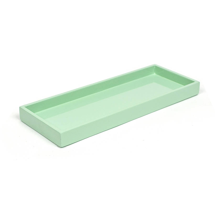 lacquer bathroom and kitchen tray by nom living