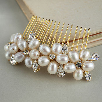 dew pearl wedding hair b by jewellery made by me notonthehighstreet