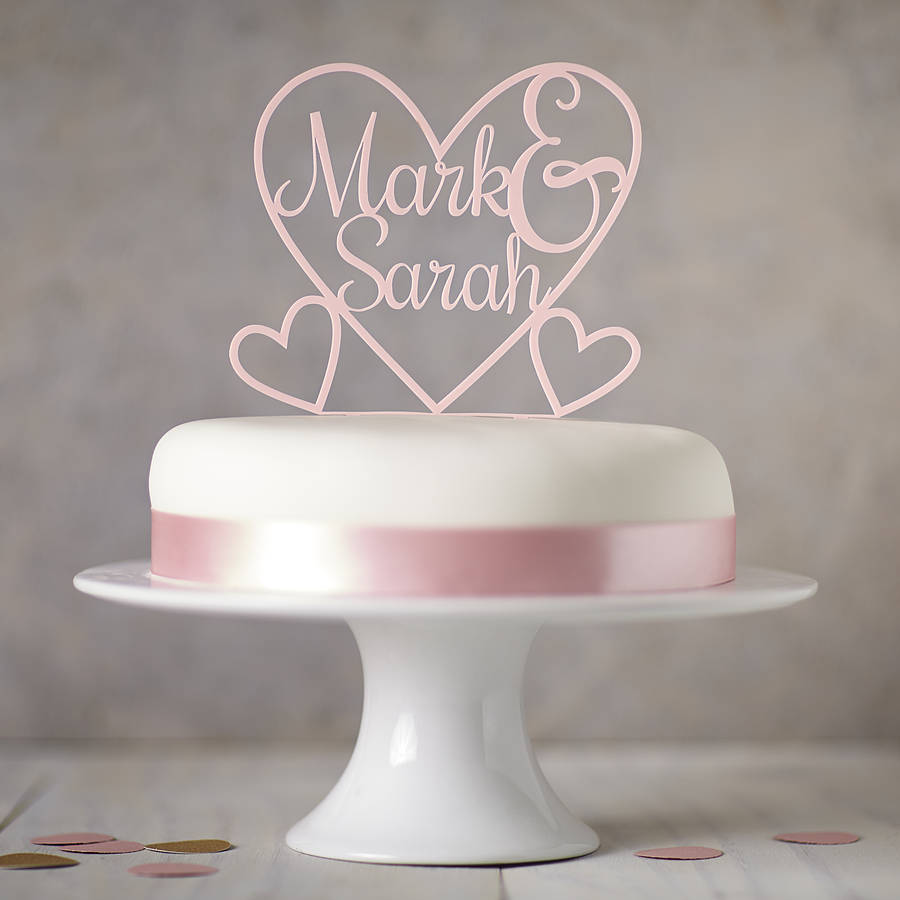 personalised heart cake topper by sophia victoria joy     Personalised Heart Cake Topper