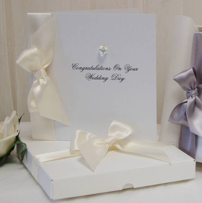 Personalised Wedding Cards For Daughter Mini Bridal