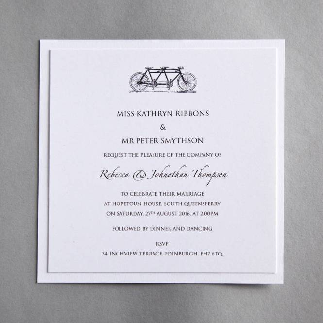 Ruby Pocket With Photo Wedding Invitations