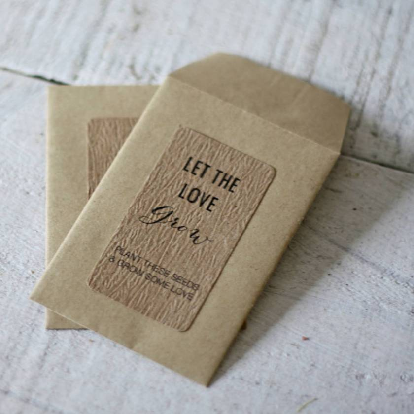 Wedding Favour Envelope For Seeds Or Sweets