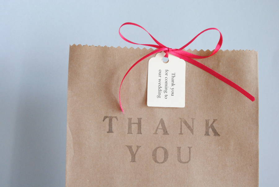 Pack Of Five Thank You Gift Bags By Creative And