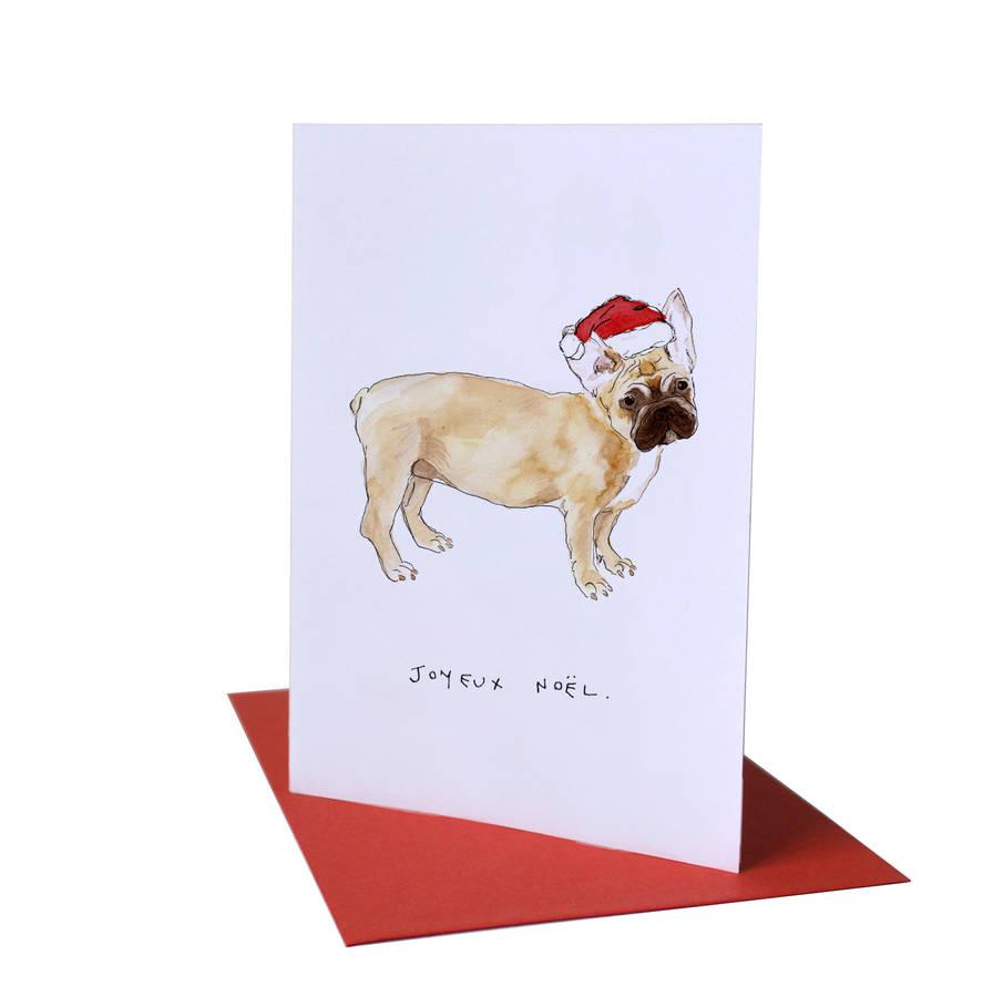 French Bulldog Joyeux Noel Christmas Card By Blank