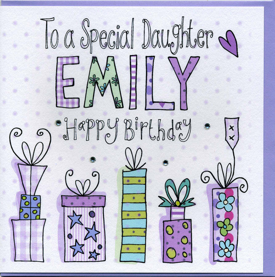 Personalised Daughter Birthday Card By Claire Sowden Design Notonthehighstreet Com