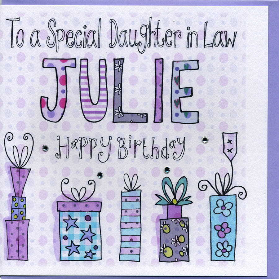 Personalised Daughter In Law Birthday Card By Claire Sowden Design Notonthehighstreet Com