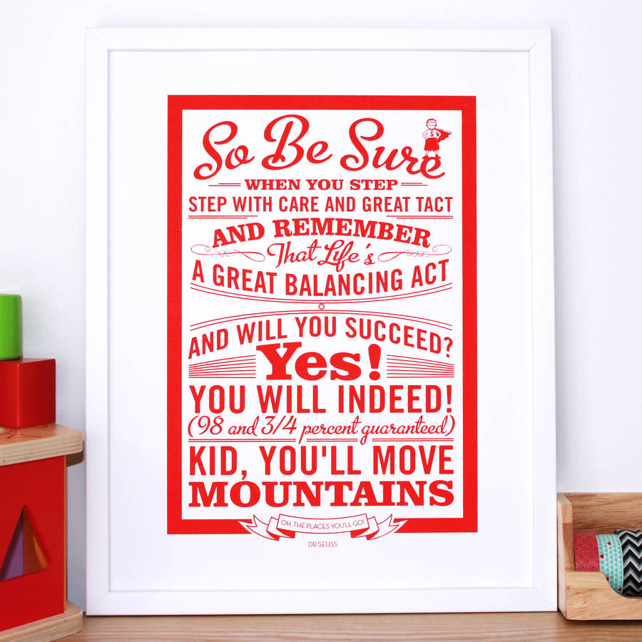 oh the places you ll go dr seuss print