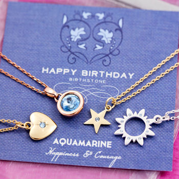 Birthstone Charm Necklace On Gift Card cheap gift ideas for teen girls