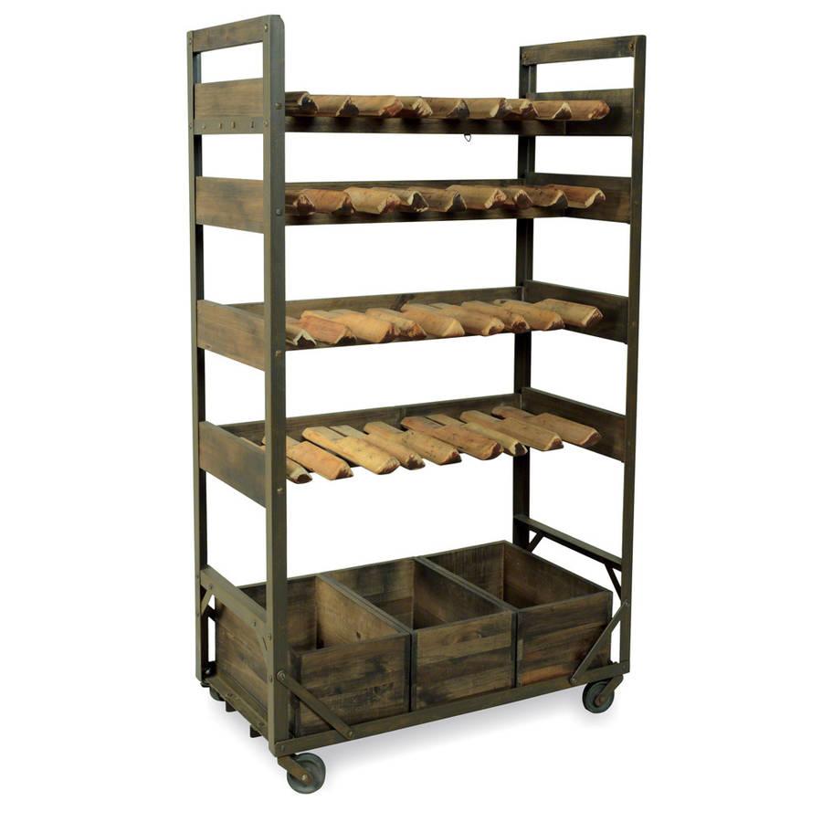 industrial vintage wine rack