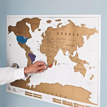 Scratch Map® Original World Map Poster