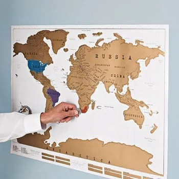 Scratch Map® Original World Map Poster