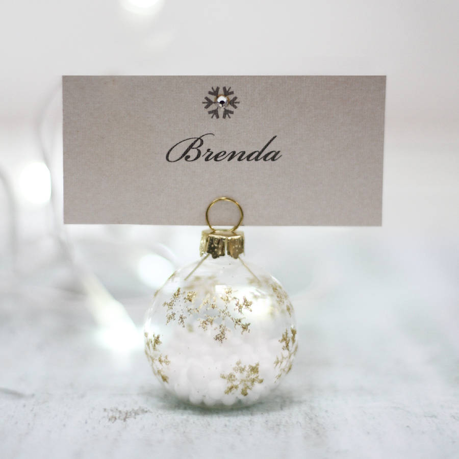 Snowflake Bauble Place Setting By 2by2 Creative