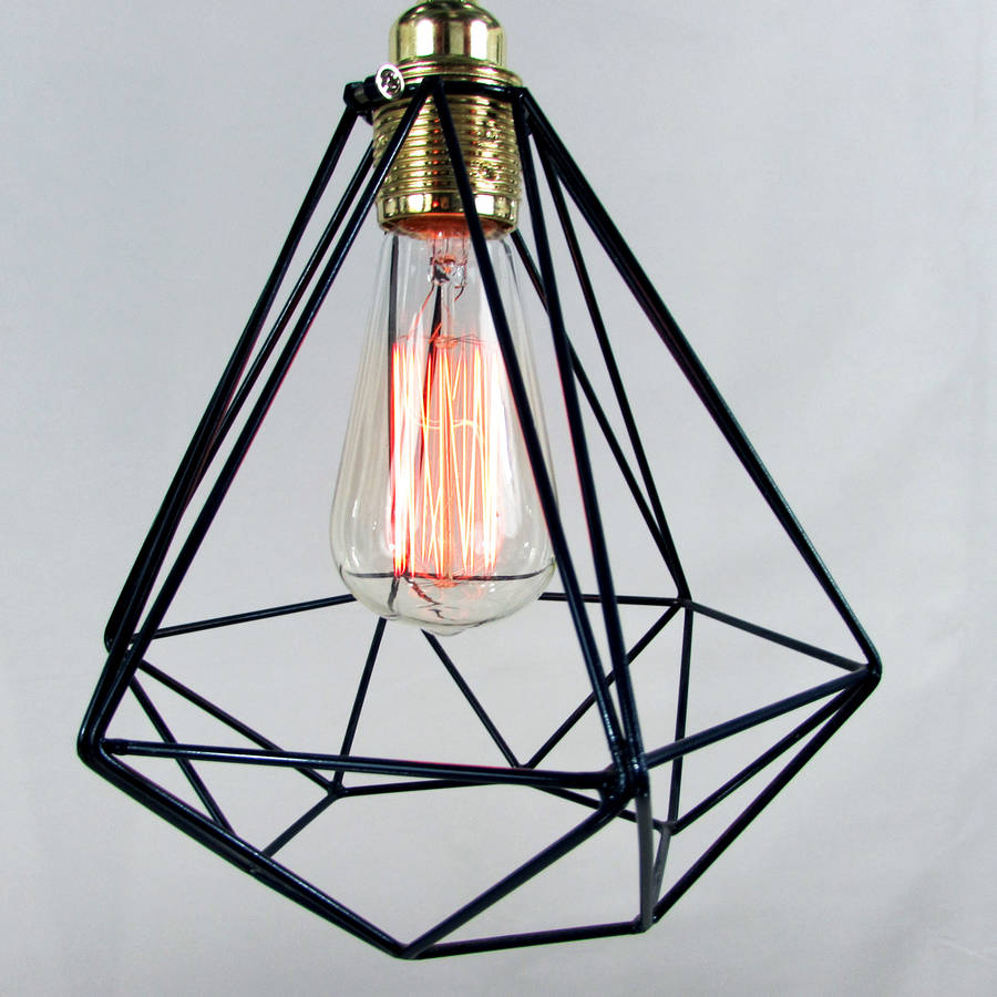 Red Industrial Pendant Light