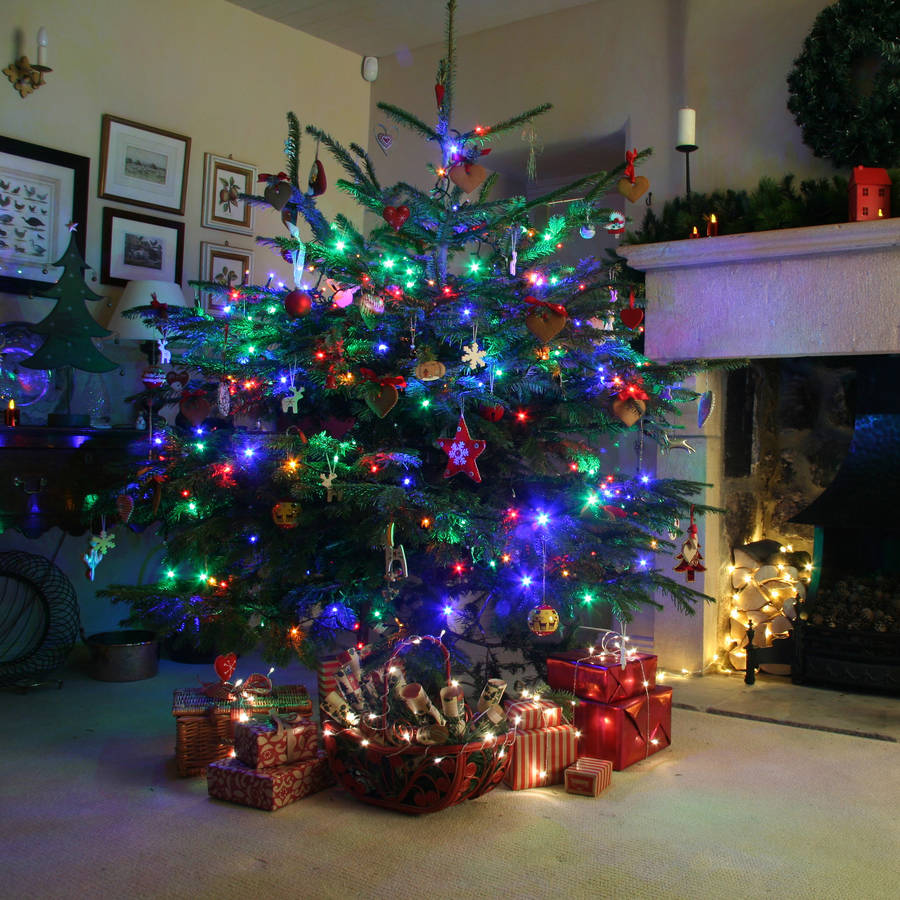 240 Multi Coloured Christmas Tree Lights By Lights4fun
