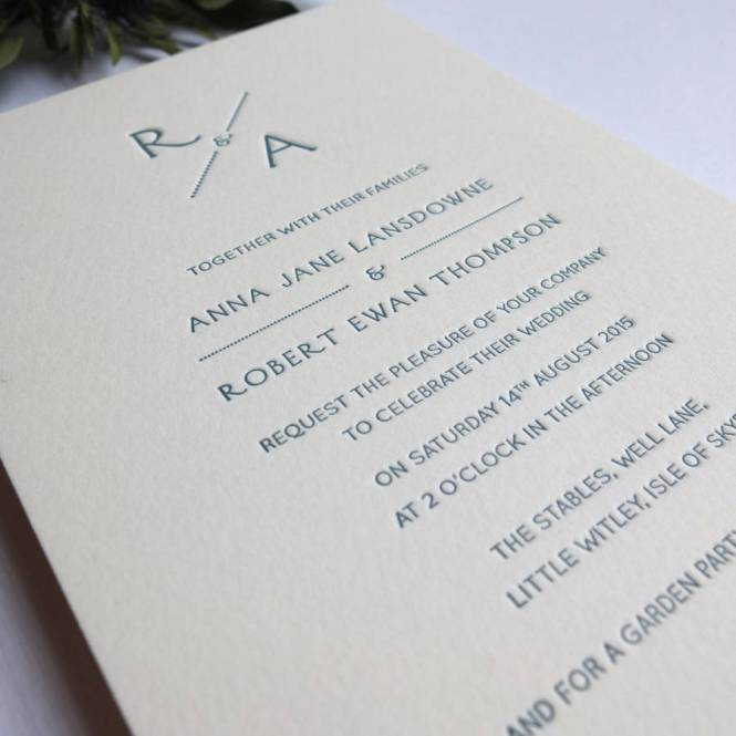 Bespoke Letterpress Invitations For An Indian Inspired Wedding Styled Shoot At Goldsborough Hall