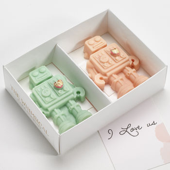 Valentine's Day Robot Couple Chocolates