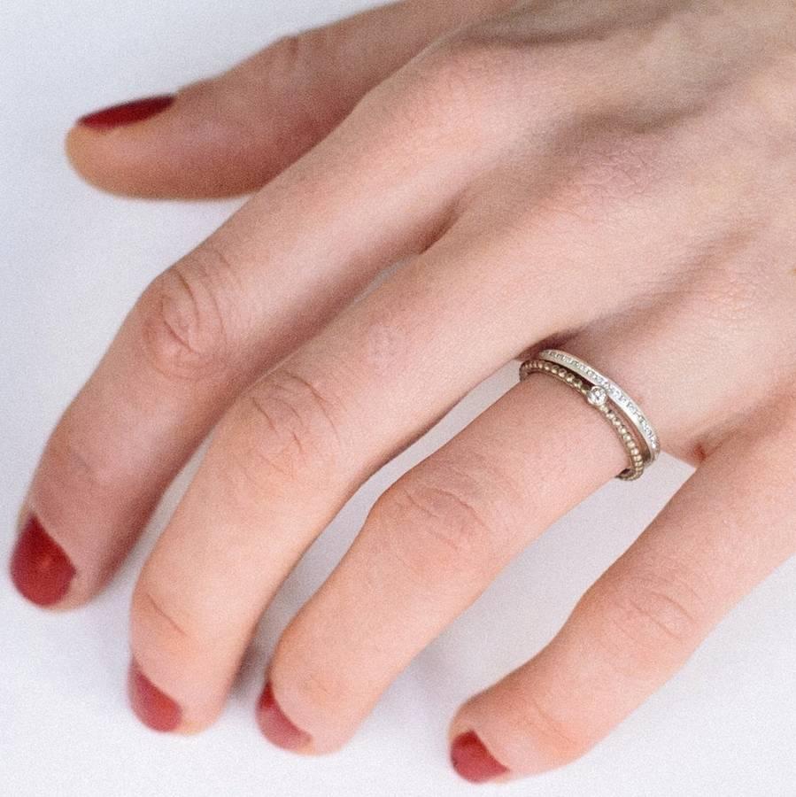 Skinny Diamond Eternity Ring By Alison Macleod