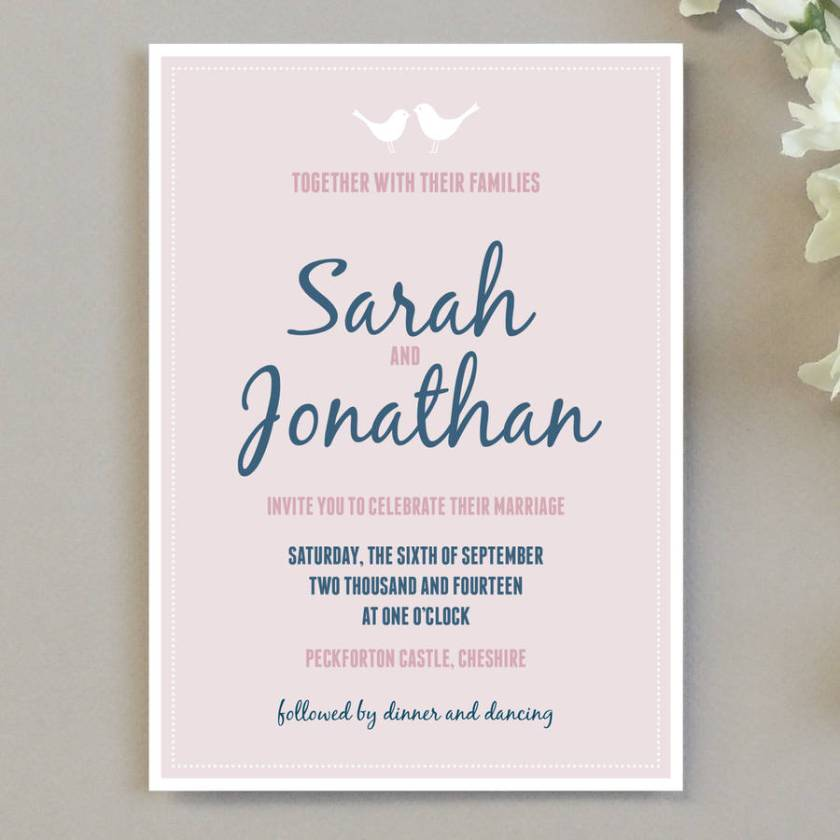 Love Bird Wedding Invitation