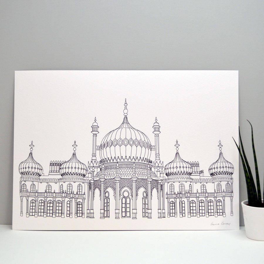 Brighton Pavilion Print By Joanna Corney