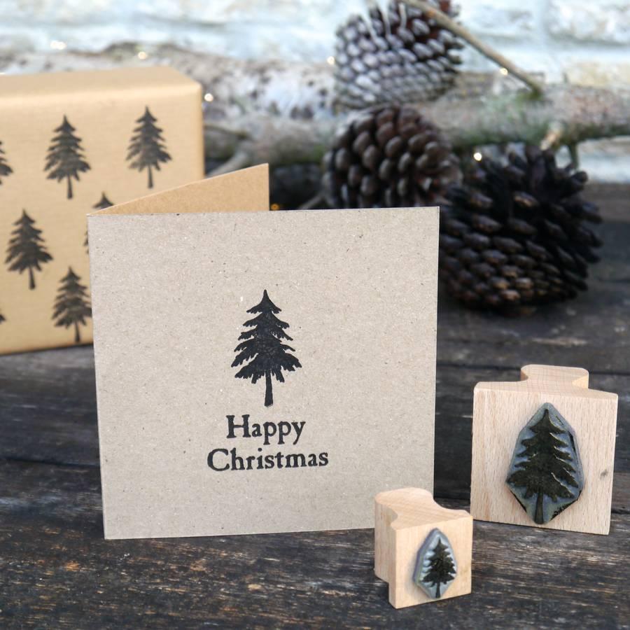 Christmas Tree Stamp By English Stamp Company