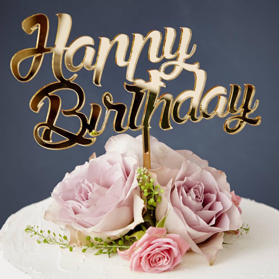 Personalised Birthday Cake Topper By Sophia Victoria Joy