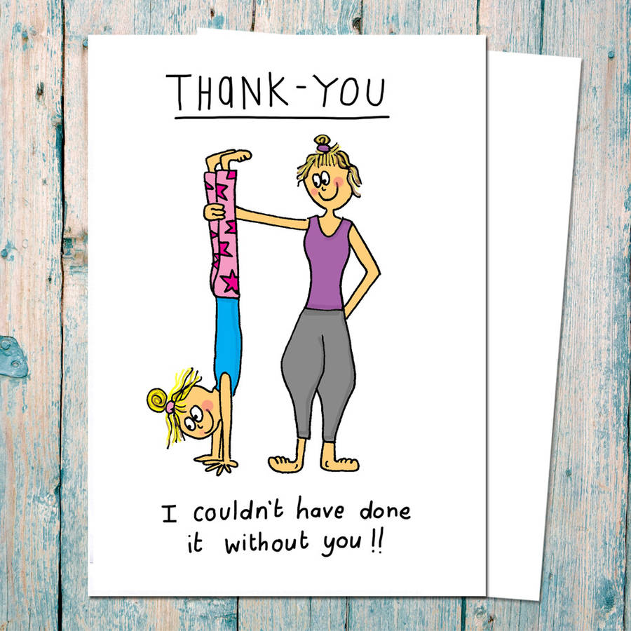 Thank You Card For Yogis And Yoga Teachers By Indieberries