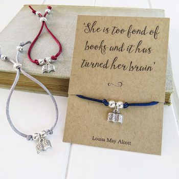 Book Lover Friendship Bracelet Unique And Quirky Gift Ideas Any Odd Person Will Appreciate (Fun Gifts!)