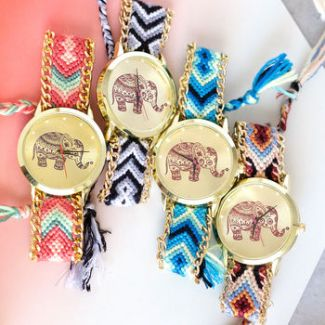 Elephant Friendship Bracelet Watch cheap gift ideas for teen girls