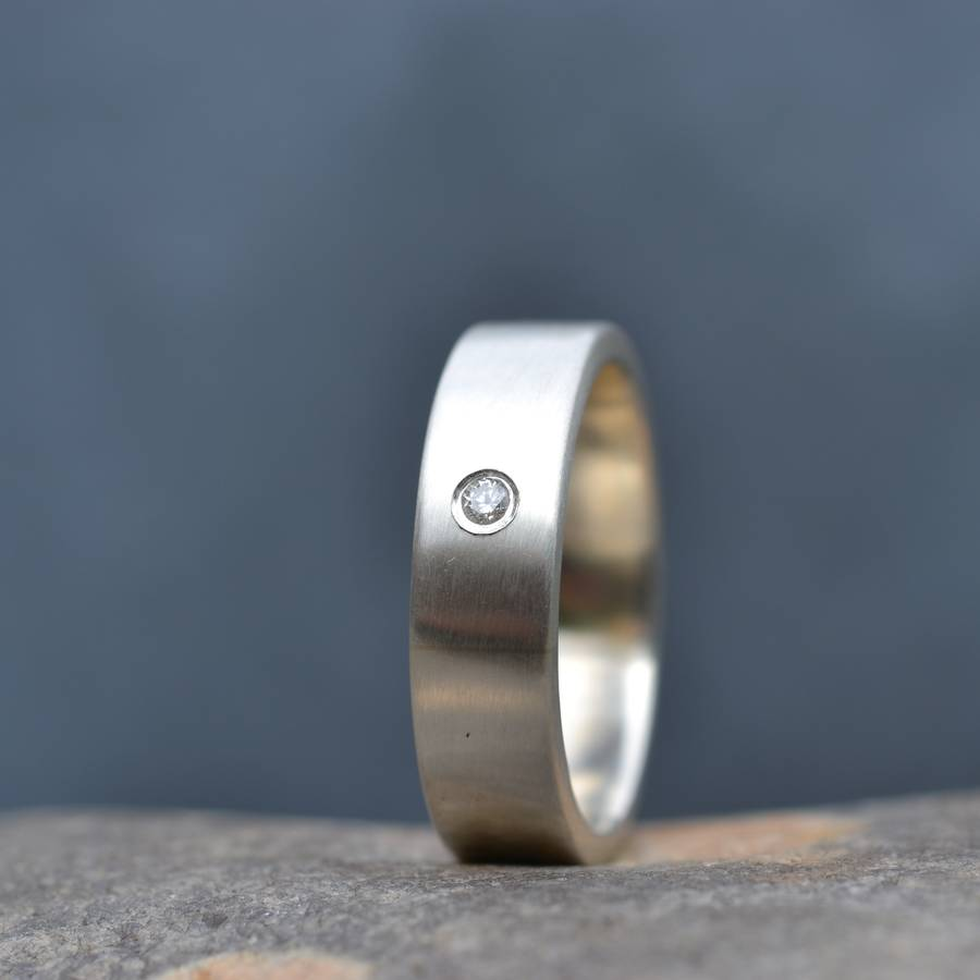 Handmade Mens Silver Engagement Ring By Muriel Amp Lily