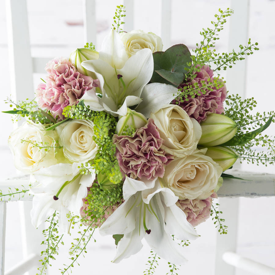 Rosebud Fresh Flowers Bouquet By Appleyard London