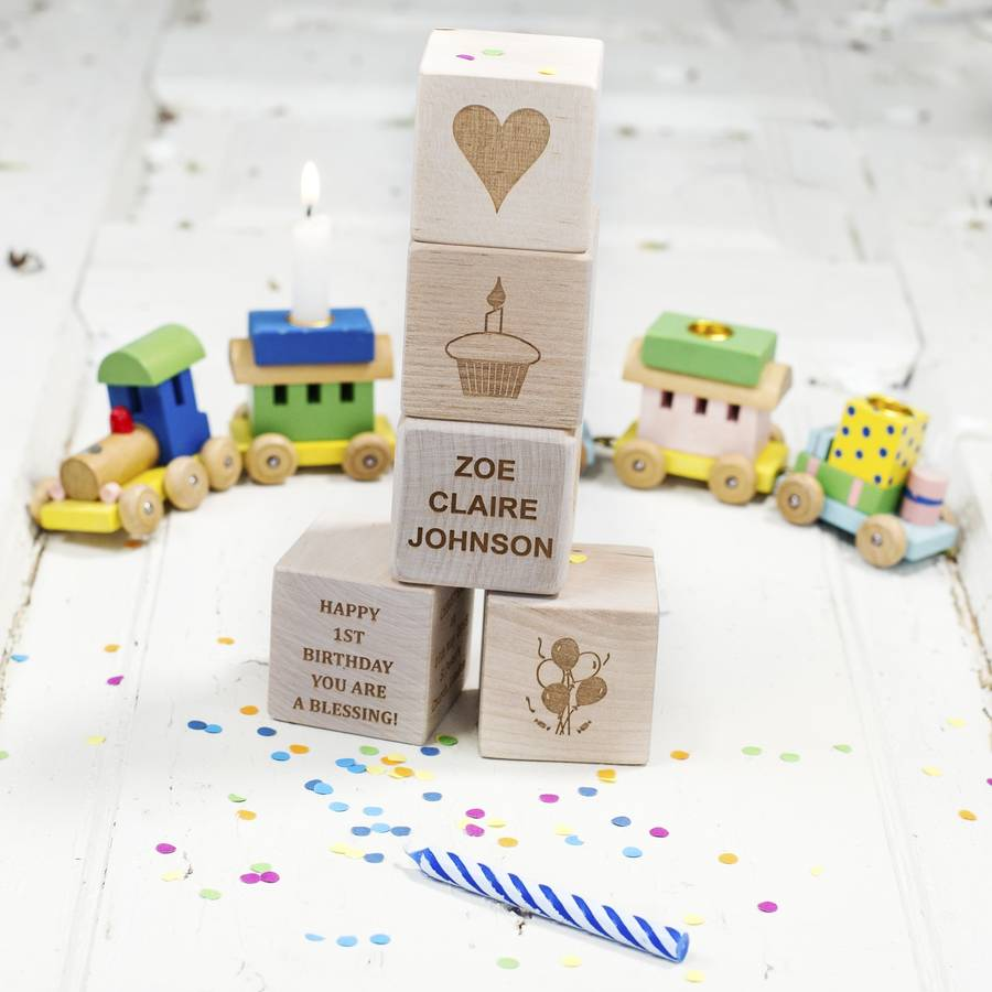 Personalised My First Birthday Wooden Blocks By Natural Gift Store Notonthehighstreet Com