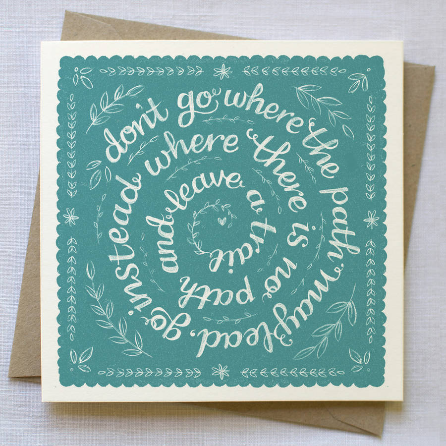 Leaving Card By Snowdon Design Amp Craft