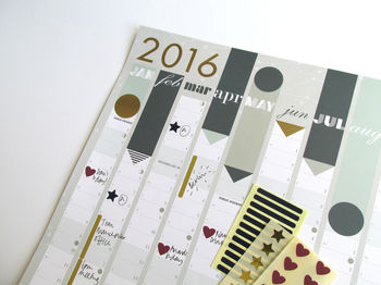 2016 Year Planner : Gold Foil cheap gift ideas for teen girls