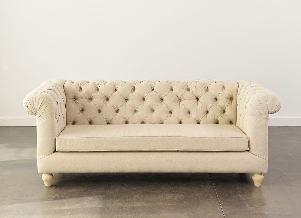 Oatmeal Chesterfield Sofa   N    age Designs Oatmeal Chesterfield Sofa 3  Add to Wishlist loading