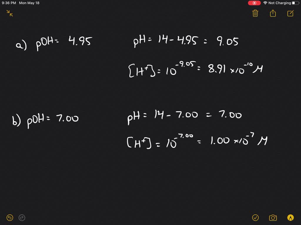 Calculate The Hydrogen Ion Concentration In Mole