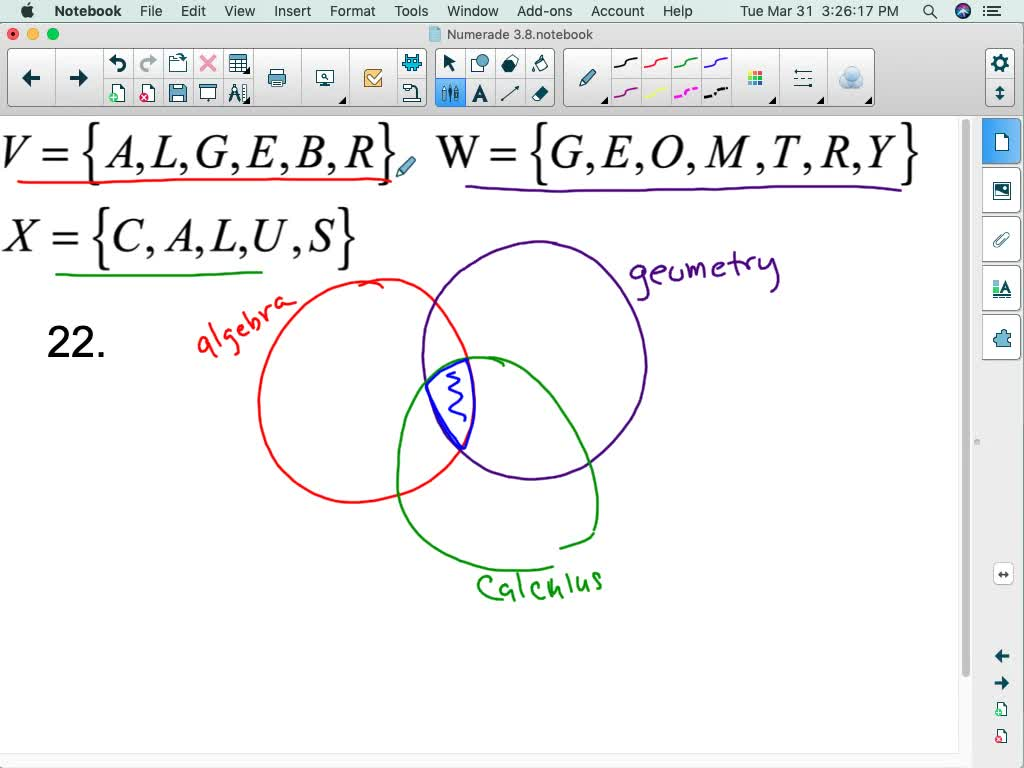 Draw A Venn Diagram To Represent The Union And In