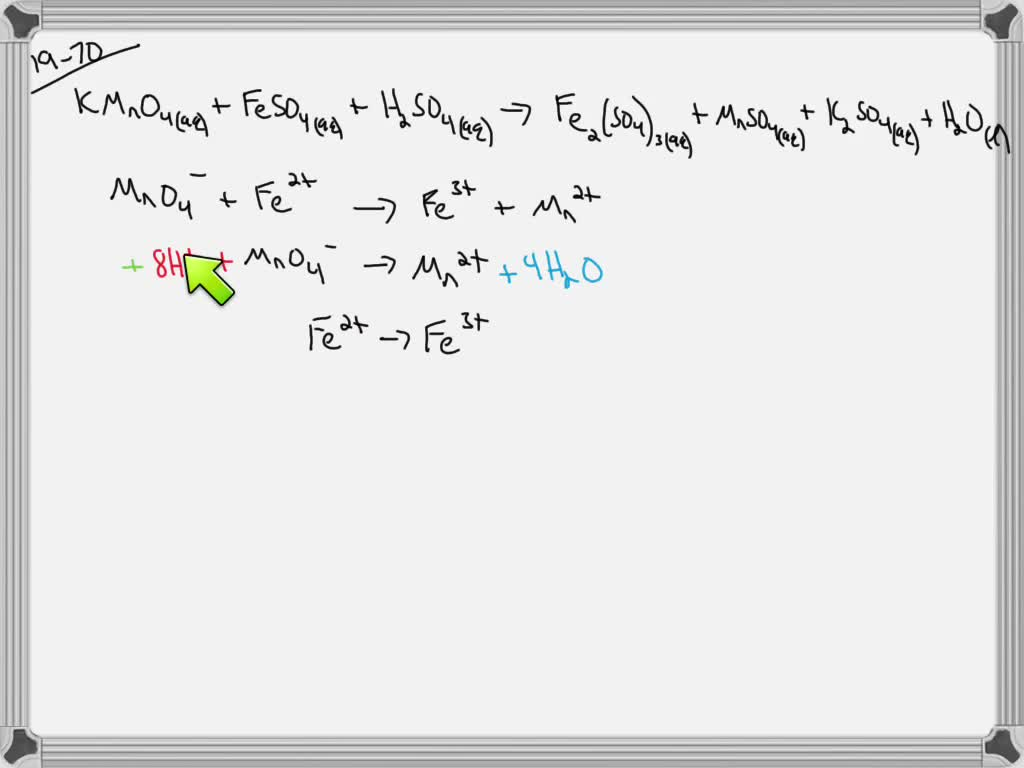 Solved Balance The Following Redox Chemical Equat