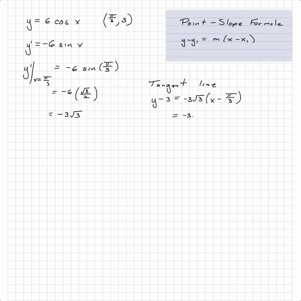 Solved Find Equations Of The Tangent Line And Nor