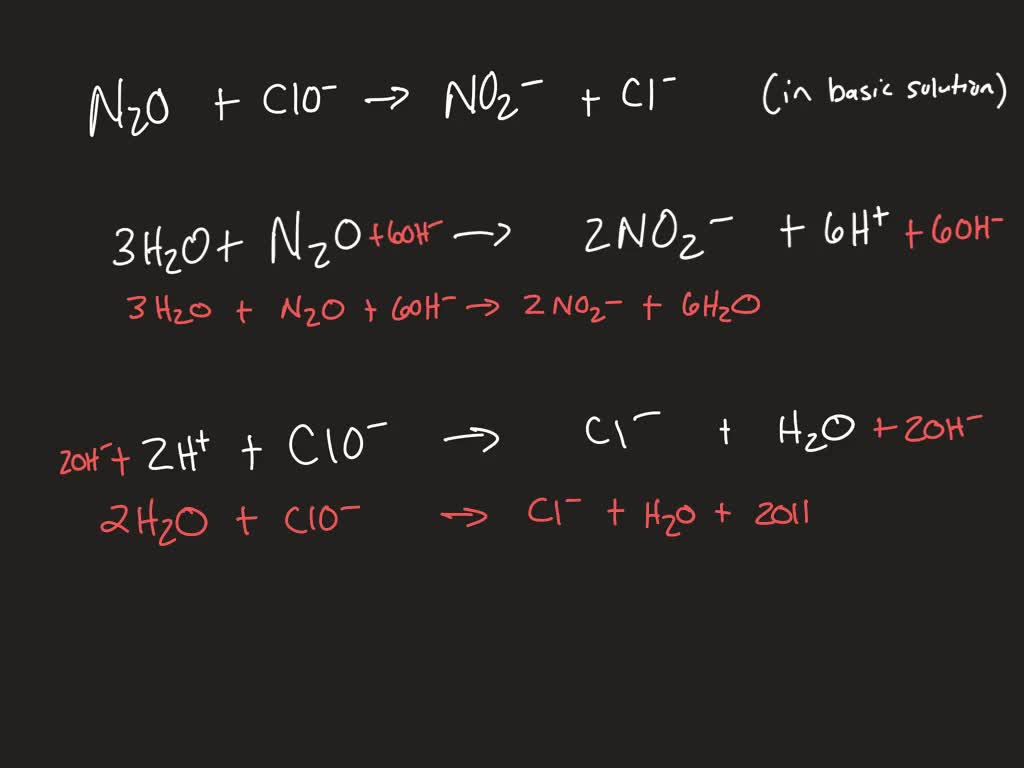 Balance The Following Redox Chemical Equation Re