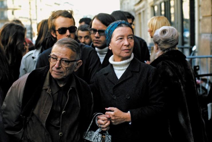 Jean-Paul Sartre and Simone de Beauvoir, Paris, 1970