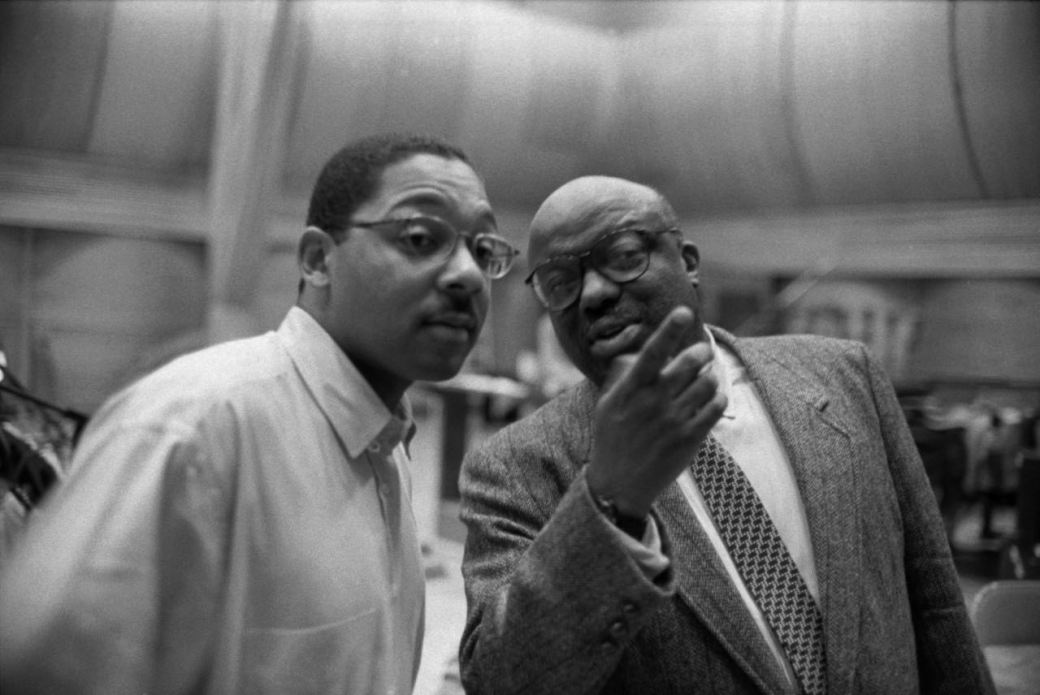 Wynton Marsalis with Stanley Crouch