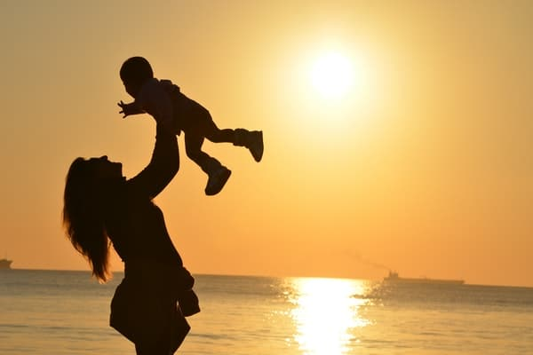 day out for babies-sunset