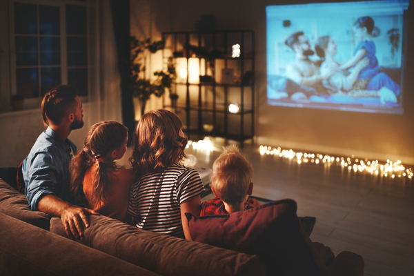 staycation movie night at home