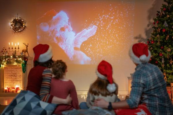 Christmas movie night at home