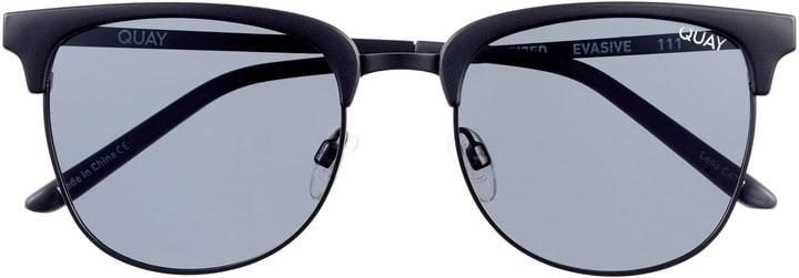 All black brow line sunglasses
