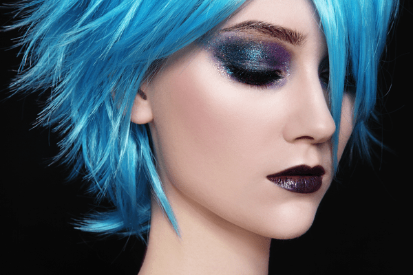 Getting your perfect blue hair.
