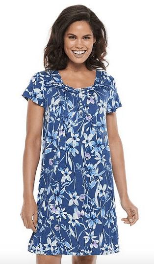Women's Croft & Barrow Flutter Sleeve Short Nightgown